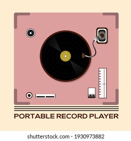 vector logo design illustration piano musical instrument, world music day celebration, portable record player