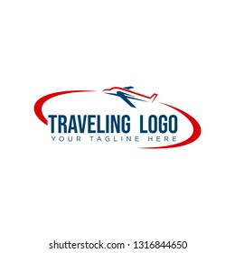 vector logo design illustration for tour and travel agency, trip advisor, aviation    company, adventure event