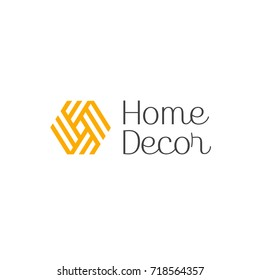 Vector logo design for interior, furniture shops, decor items and home decoration.