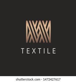 Vector logo design for knitting, textile