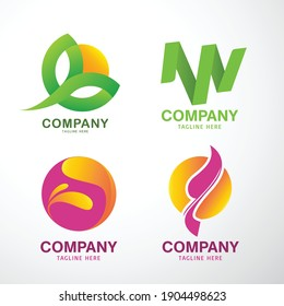 Vector logo design with natural elements