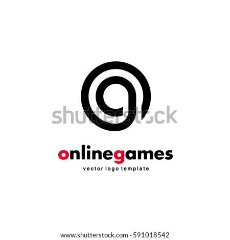 vector logo design online game letter stock vector royalty free