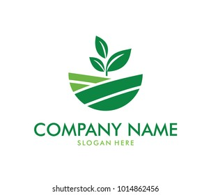 Vector Logo Design Perfectly Suitable For Agriculture, Agronomy, Wheat  Farm, Rural Country Farming