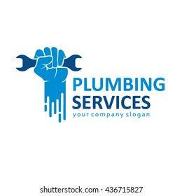 Vector logo design for plumbing company.