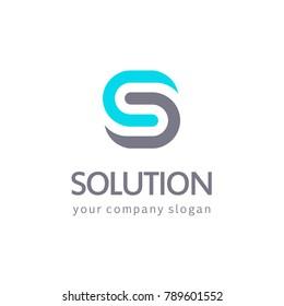 Vector logo design. S letter sign