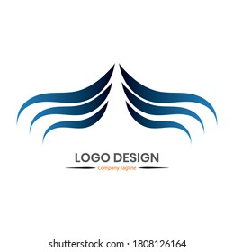 Vector logo design. Simple template and easy to use. Editable file in eps.10