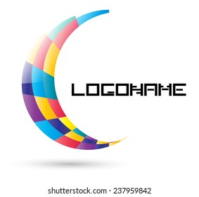 Vector Logo Design Template . Abstract Colorful Wing Icon .