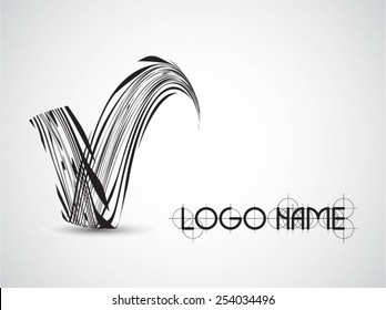 Vector Logo Design Template . Abstract Colorful Stripe Icon . Curved Lines on White Background . Spiral Logo