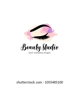 Vector logo design template for beauty salon. Lash and Brow