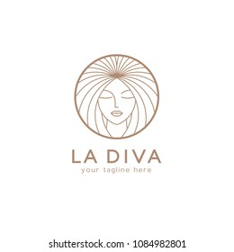 Vector logo design template for beauty salon, hair salon, cosmetic