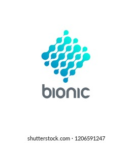 Vector logo design template. Bionic sign