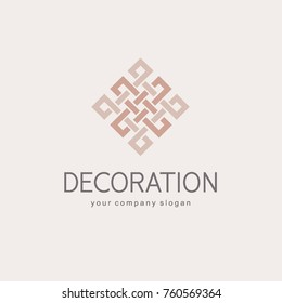 Vector logo design template for boutique hotel, restaurant, jewelry. Luxury monogram.