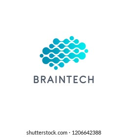 Vector logo design template. Braintech