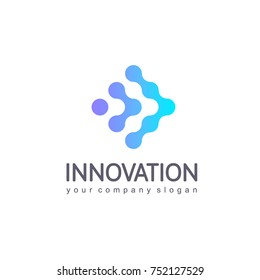 Vector logo design template for business. Innovation sign.