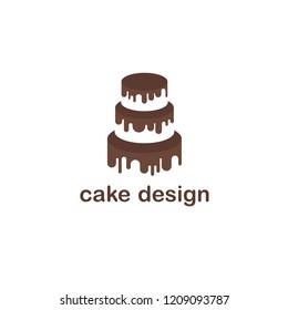 cake factory logo symbol template design stock vector royalty free