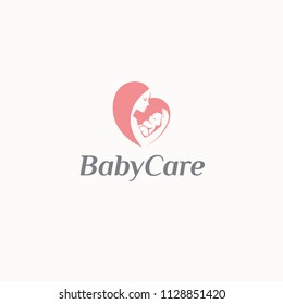 Vector logo design template of child care, motherhood and childbearing