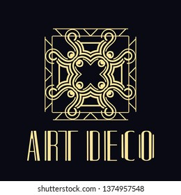 Vector logo design template concept in modern art deco style. Emblem for fashion, beauty and jewelry industry