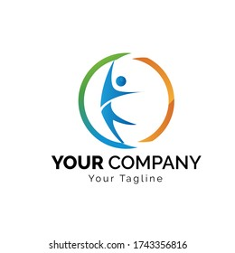 Vector logo design template. Concept for insurance, secure, health, safety and protection,health logo