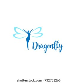 Vector logo design template. Dragonfly sign