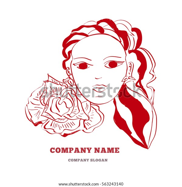 Beauty hair Salon Red Makeup Poster