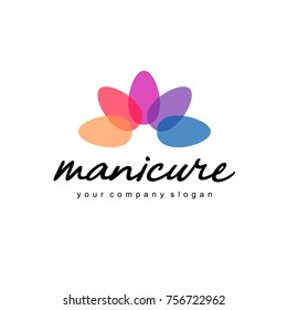 Vector logo design template for manicure and nail salon.