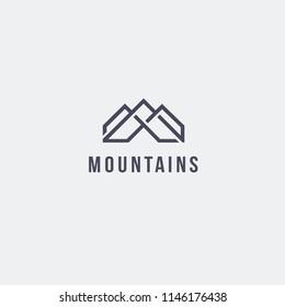 Vector logo design template. Mountains logo concept