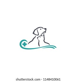 Vector logo design template for pet shops, veterinary clinics and homeless animals shelters