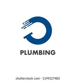 abfb55ad5 Vector logo design template for plumbing company.
