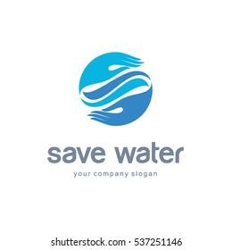 Vector Logo design template save water