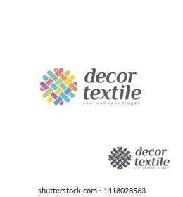 Vector logo design template for shop knitting, textile
