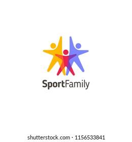 Vector logo design template. Sport family icon