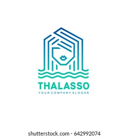 Vector logo design template. Thalassotherapy and SPA