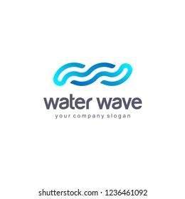 Vector logo design template. Water Wave. Clean water.
