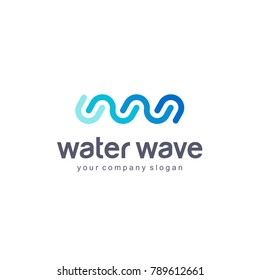 Vector logo design template. Water Wave. Clean water.