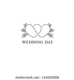 Vector logo design template. Wedding symbol concept.