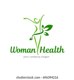 Vector logo design template. Wellness and woman health