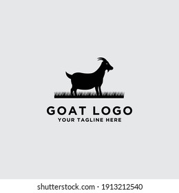 Vector logo design template for wild goat