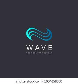 Vector logo design. Water Wave. Water sign.
