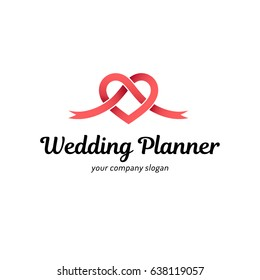 Vector logo design for wedding planner