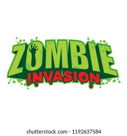 Vector logo design with a zombie theme