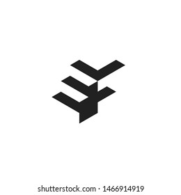 Vector Logo EF Letter with Stairs Ladder Staircase Shape