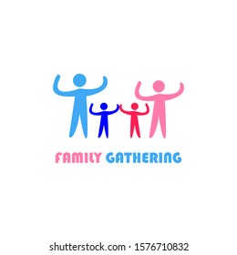 Vector logo of a family gathering with a simple and elegant design