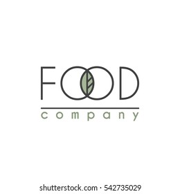 Vector Logo for Food Company, Organic Shop or Farm Market