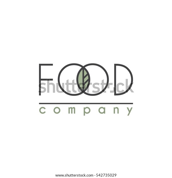 Vector Logo for Food Company, Organic Shop or Farm Market