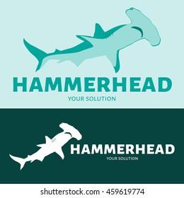 Vector logo hammerhead. Brand's logo in the form of a hammerhead shark