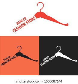 Vector Logo Hanger For store fashion With different Background .Graphic fork icon symbol for cafe, restaurant, cooking business.