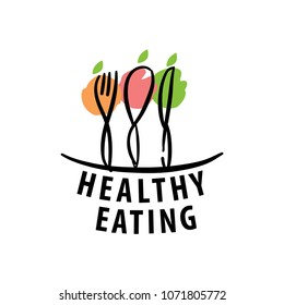 vector logo healthy eating
