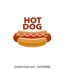 vector logo hot dog