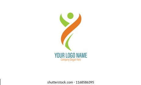 Vector or Logo Human Letter Y Design Template
