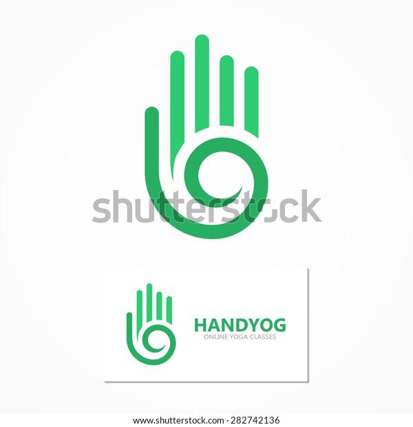 Vector Logo Icon Hand Spiral Stock Vector Royalty Free 282742136